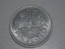 5 francs- 1949 (avec B) - France- TTB+ - KM#888b.2