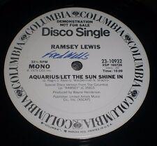 "Aquarius Let The Sun Shine In Ramsey Lewis~WHITE LABEL PROMO 12""~Stereo~Mono"