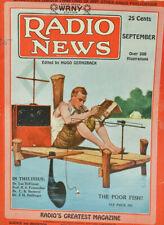 Vintage Radio News Magazine 1925 September Issue The Poor Fish