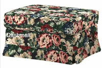 Ikea EKTORP Ottoman Footstool Cover Only Lingbo Multicolor Floral 904.033.23