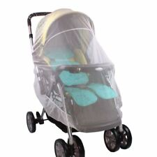 Baby Stroller Mosquito Mesh Net Protector Cover Buggy Fly Bee Bug Insect (White)