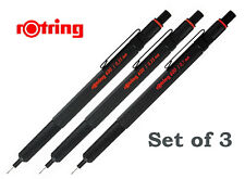 Rotring Mechanical Pencil 600 Black Set of 3: 0.3mm, 0.5mm and 0.7mm