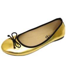 Scarpe da donna ballerine senza marca in oro