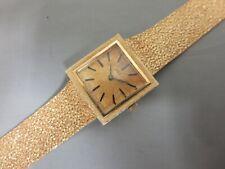 Angelus 14k Yellow Gold Vintage Ladies Wristwatch With Original Box