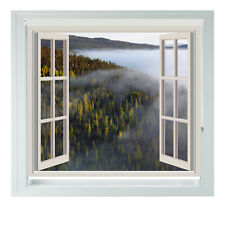Window Rain Forest Romantic Bedroom Printed Photo Black Out Roller Blinds 2345ft