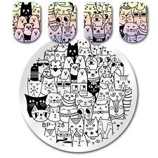 Born Pretty Nail Art Stamp Template Cat Bear Design Image  Plate Stencil