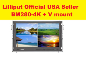LILLIPUT BM280-4K Broadcast Ultra-HD Monitor W/SDI/ HDMI/DVI/VGA/TALLY+ V Mount