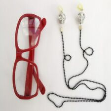 Kuroshitsuji Black Butler Grell Sutcliff Red Glasses Skull Chain Cosplay Prop