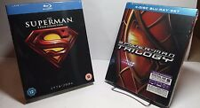 Spider-Man Trilogy+5 Superman Movies(Blu-ray Disc)NEW-Free S&H-8 Movie Collectio