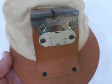 OLD ANTIQUE MINER HAT CAP leather canvas - POSSIBLY COAL KING - EXCELLENT. COND.