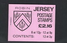 Jersey 1984  L2.16  Robin Coat of Arms  Booklet SG SB35