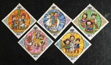 Mongolia : 5 Diff. 'Int. Year Of The Child-1979,Commemo.,Diamo nd-Shaped, Fu.