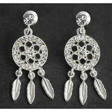 Equilibrium 274710 - DREAMCATCHER SILVER PLATED EARRINGS -  Dream Catcher Studs