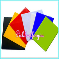 1x 2.8x100x100mm Colourful Acrylic Panel Sheet Plexiglass Plastic Plate #Mm07 QL