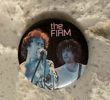Vintage The Firm ~ Pin Button ~ 1-1/4� ~ Jimmy Page & Paul Rogers