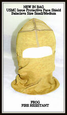 NEW USMC Issue Elite Issue Protective Face Shield Balaclava Mid Weight Sz S/M