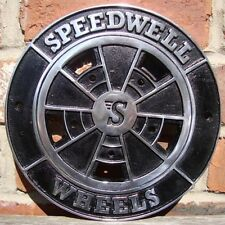 Speedwell BRM WHEEL Sign cast aluminium vintage speed mini cal porsche VAC053