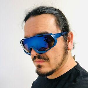 Gafas De Sol Lentes Para Hombres Grande Sport Men Sunglasses Blue Mirror Lens