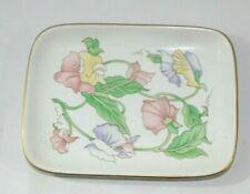 Vintage Ben Rickert Fine China Rectangular Soup Dish Floral Pattern