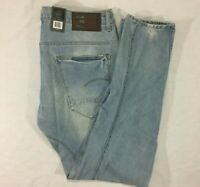 New - G-Star Raw - Light Aged Destroy - Arc 3D Slim Jeans - Mens - Size W33 L32