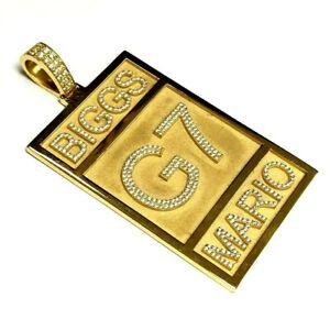 B.I.G Marlo G7 4.00 cts diamonds yellow gold pendant