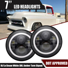 """7"""" Inch Led Headlights W/ DRL Bulbs Lamps Fit 1947-1957 CHEVY GMC PICKUP Truck"""