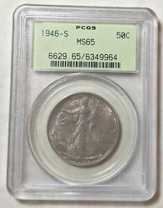 1946-S Walking Liberty Half PCGS MS65 OGH and Toned.