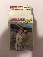 1977 Topps Baseball Card Lot 250 Different Cards Starter Set VG or Better Cond