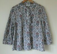 Laura Ashley Archive Blouse Top Prairie Modest Size 16 Heritage Print Paisley