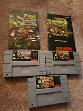 Donkey Kong Country Trilogy 1 2 3 (Authentic) (Super Nintendo, SNES) Diddy Dixie