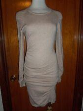 399512f3bd Victoria s Secret VS Blonde Heather Crew Neck Ruched Sweater Dress S New