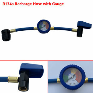 R-134A Recharge Refrigerant Hose A/C Car Air Conditioning Pressure Gauge0-100PSI