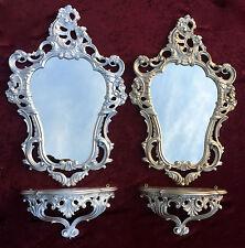 Set Espejo de pared con consola eMPLAZAMIENTO 50x76 antigua Barroco plata grande