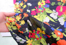 60% SILK 40% COTTON FABRIC FLORAL PRINT BY THE METER B001