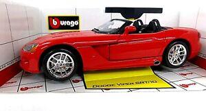 Bburago Dodge Viper  SRT/10 Red   1:18