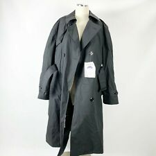DSCP Garrison Collection Black Trench Coat Military 42L 40XS NWT Zip Liner