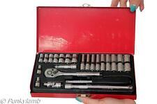 24pc 1/4 de pulgadas pulgadas disco de Standard & Deep Socket trinquete Garage Taller Conjunto de herramientas