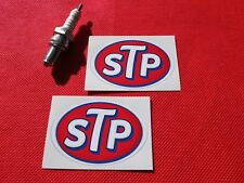 Pair of  small STP stickers