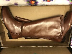 Migato Leather Brown Knee High Boots Brown Size 39