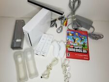 Nintendo Wii Gamecube Compatible White+Super Mario+2controllers/nunchuk*TESTED*