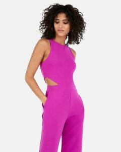 nwt EXPRESS r29 pick pink side cutout dress jumpsuit xs L purple
