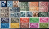 D136568/ SPAIN – AIRMAIL / LOT 1950 – 1956 MINT MNH FULL SETS CV 173 $