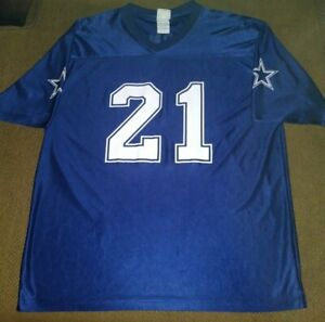 Dallas Cowboys J Jones Jersey Size XL Unisex Blue Screenprint AUTHENTIC Apparel
