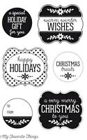 CHRISTMAS LABELS & TAGS Clear Rubber Stamp - My Favorite Things Stamping Craft
