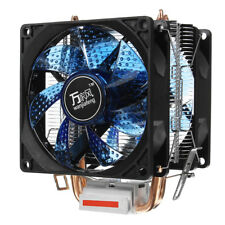 CPU Cooler LED Dual Fan Quiet Heatsink for Intel LGA775/1156 AMD AM3 AM4