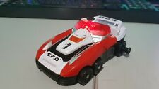Vintage Bandai 2004 Power Rangers SPD Red Delta Runner 1 car Megazord