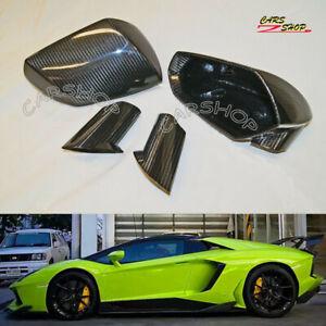 For Lamborghini Aventador LP740 LP700 Dry Carbon Fiber Side Mirror Cover Replace
