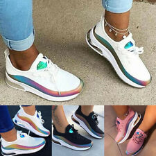 Womens Lace Up Tennis Walking Gym Running Shoes Comfortable Air Cushion Shoes