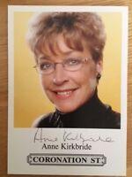 ANNE KIRKBRIDE (Deirdre, Coronation St) - Hand signed autographed photograph