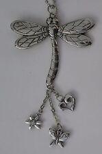 s Dragonfly Car Mirror Charm Jewelry Rear View ganz ornament eg0584 silver tone